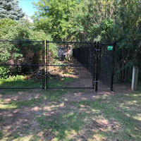 Double Swing Chain Link Gate