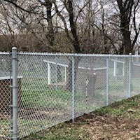 White Chain Link-Fence