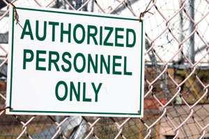 Chain Link Authorized Personel